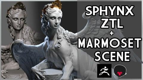 Sphynx .ZTL + Marmoset Scene Bundle