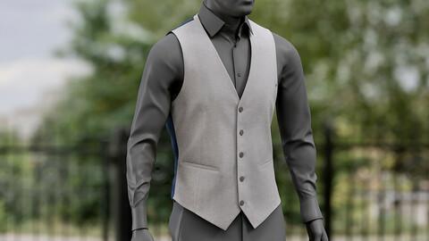 Realistic 3D model of Waistcoat 1