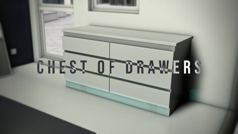 Modern hi tech and Aesthetic chest of drawers 3D model