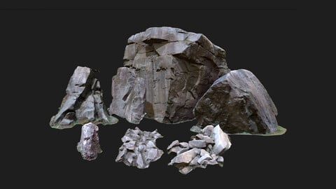 Ilkley Moor Scanned Rocks Pack