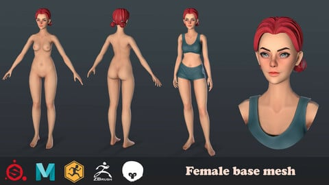 Female base mesh