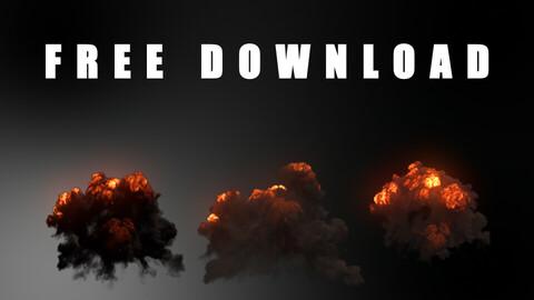 BHVFX008F - FREE 1080x1080 Explosion Asset Pack