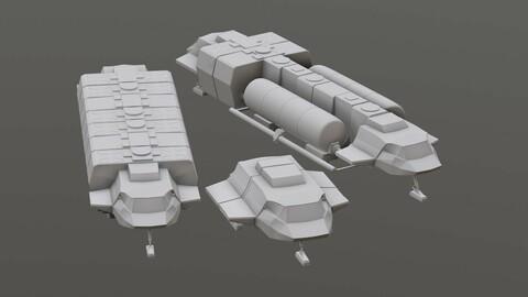 Visitors starships transport tanker pack Printable