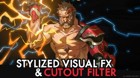 STYLIZED VISUAL FX using CUTOUT FILTER - 24min Commentary Video