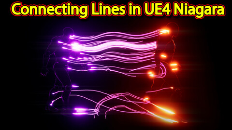 Connecting Lines Effect in UE4.26 Niagara