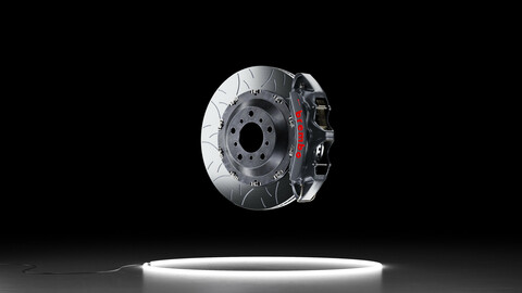 Brembo GT-S brake kit 3D model