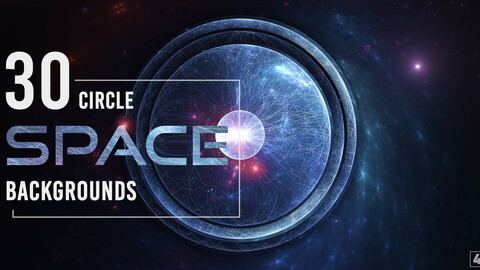 30 Abstract Circle Space Backgrounds - Vol. 1