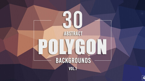 30 Abstract Polygon Backgrounds - Vol. 1