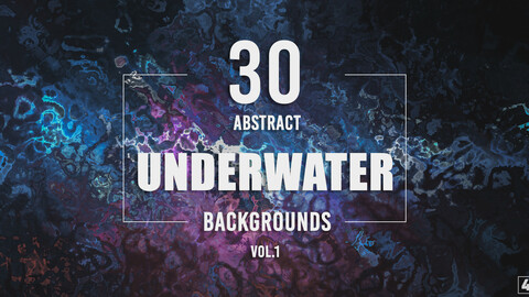 30 Abstract Underwater Backgrounds - Vol. 1