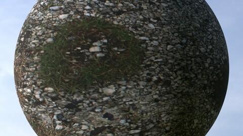 Gravel Grass 6 PBR Material