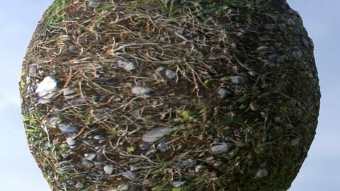 Gravel Grass 8 PBR Material