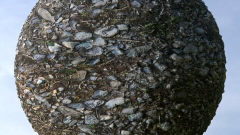 Gravel Ground 8 PBR Material