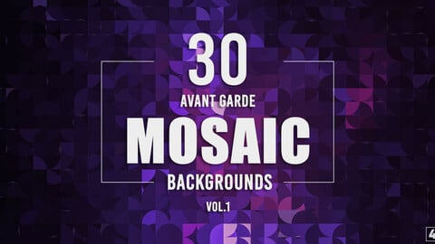 30 Avant Garde Mosaic Backgrounds - Vol.1