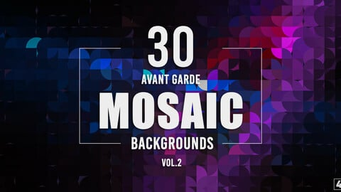 30 Avant Garde Mosaic Backgrounds - Vol.2