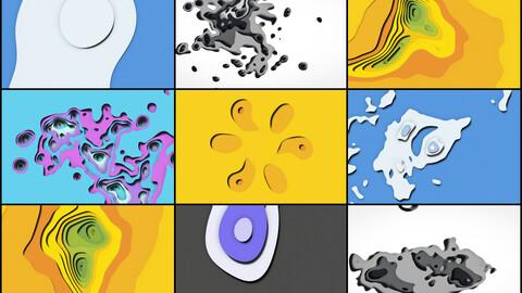 30 Paper Cut Out Backgrounds - Vol. 2