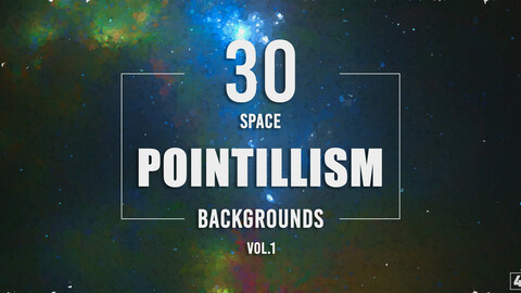 30 Pointillism Space Backgrounds - Vol. 1