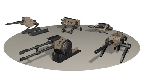 5 Heavy Weapons turret Pack