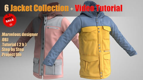 6 Jacket collection + Video Tutorial
