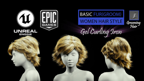 Gel Curling Iron Grooming Real-Time Hairstyle Unreal Engine 4