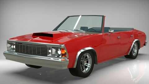 Malibu cabriolet 1981 Low-poly 3D model
