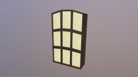 Low Poly Window 3D Model  free