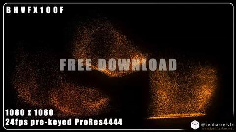 BHVFX100F - FREE 1080x1080 Exploding VFX Embers Pack