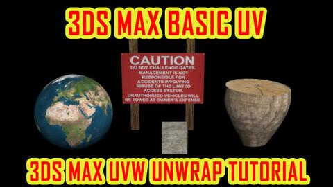 3DS MAX UV BASIC | 3ds max uvw unwrap tutorial