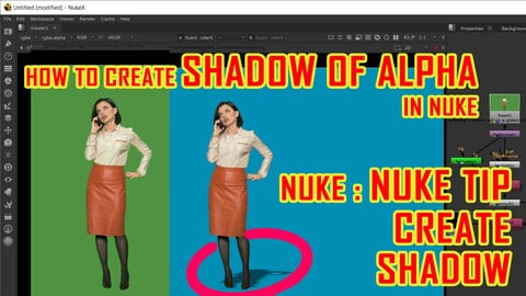 how to create shadow in nuke - greenscreen