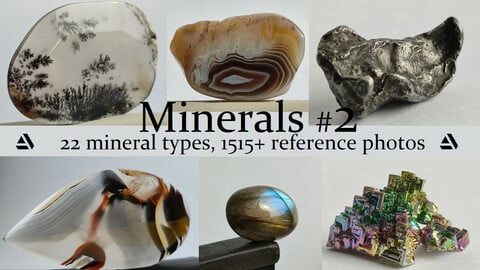 Minerals vol.2. 22 Mineral Types, 1515+ Reference Photo Pictures