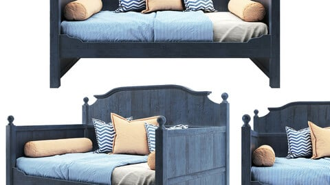 PA  WOODEN RUSTIC BED 01