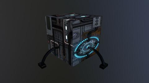 Sci-Fi  Energy Cube 3D Model free