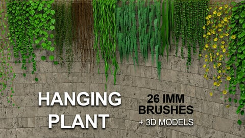 26 Hanging Plant IMM Brushes for Zbrush