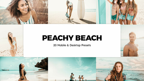 20 Peachy Beach LUTs and Lightroom Presets
