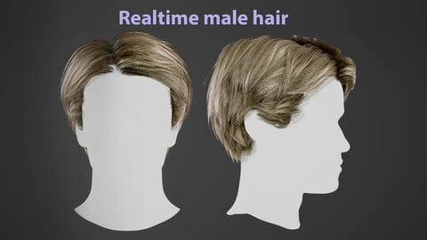 Realtime male hair Asset