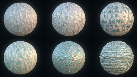 Stylized Winter Landscape Material Pack