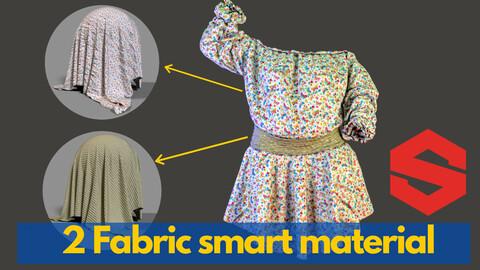 2 Fabric smart material : shirring shirt & circle skirt