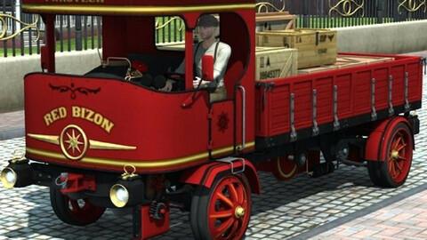 Steam Truck Red Bizon