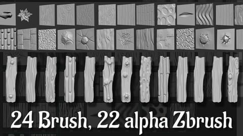 24 ZBP Brush, 22 alpha Zbrush