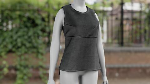 Realistic 3D model of Women's Vest 1