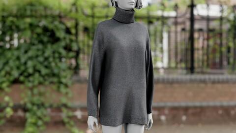 Realistic 3D model of women's Sweater 1
