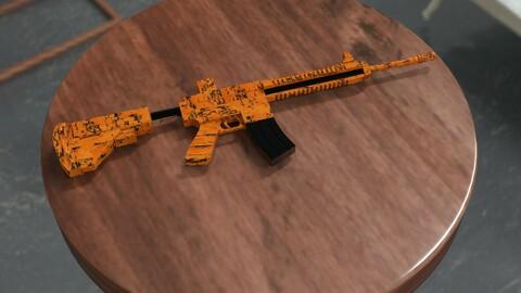 m416 Gun 3d Model