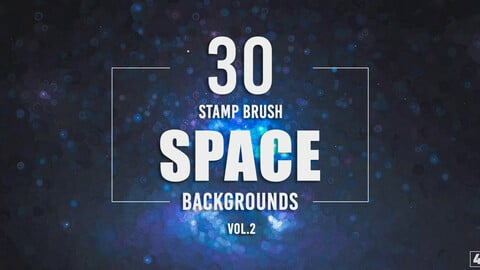 30 Stamp Brush Space Backgrounds - Vol. 2