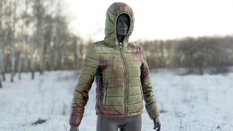 Realistic 3D model of Women's Down Jacket Bloody