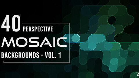 40 Perspective Mosaic Backgrounds - Vol. 1