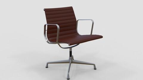 Vitra Aluminium Chair 107 Dark Red