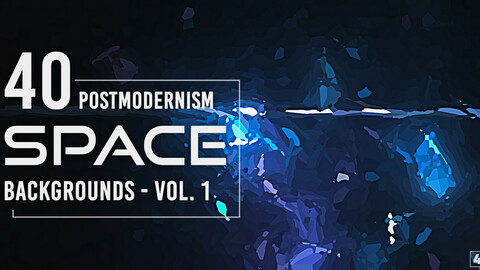 40 Postmodernism Space Backgrounds - Vol. 1