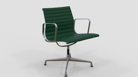 Vitra Aluminium Chair 107 Forest Green