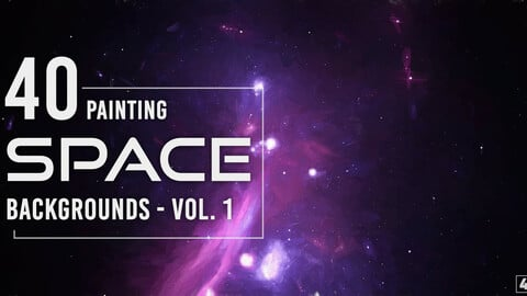 40 Space Painting Backgrounds - Vol. 1