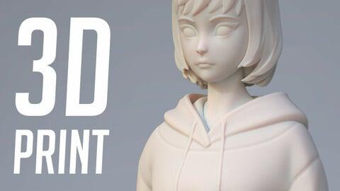 3D Print - Anime Girl