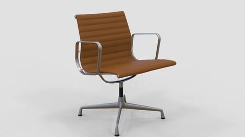 Vitra Aluminium Chair 107 Saddle Tan